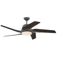Solo Encore 54 inch Aged Galvanized with Rustic Oak Blades Ceiling Fan, Blades Included