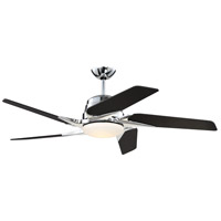 Solo Encore 54 inch Chrome with Carbon Fiber Blades Ceiling Fan, Blades Included