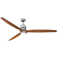 Craftmade SON52CH-52LOK Sonnet 52 inch Chrome with Light Oak Blades Indoor Ceiling Fan Kit in 52