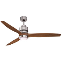 Craftmade SON52CH-52WAL Sonnet 52 inch Chrome with Walnut Blades Indoor Ceiling Fan Kit in 52