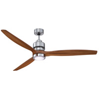 Sonnet 60 inch Chrome with Light Oak Blades Indoor Ceiling Fan Kit in 60