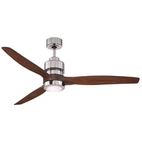 Sonnet 60 inch Chrome with Walnut Blades Indoor Ceiling Fan Kit in 60