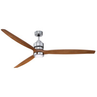 Sonnet 70 inch Chrome with Light Oak Blades Indoor Ceiling Fan Kit in 70