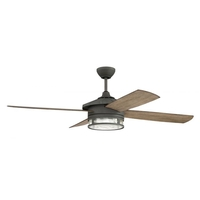 Craftmade STK52AGV4 Stockman 52 inch Aged Galvanized with Driftwood Blades Outdoor Ceiling Fan