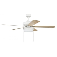 Craftmade STO52W5 Stonegate 52 inch White with White/Ash Blades Ceiling Fan