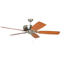 Craftmade SUA62BNK5 Supreme Air 62 inch Brushed Polished Nickel with Dark Walnut and Cherry Blades Ceiling Fan in Brushed Nickel, Blades Included