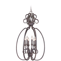 Craftmade 22036-FM Sheridan 6 Light 21 inch Forged Metal Foyer Light Ceiling Light, Cage alternative photo thumbnail