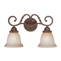 Craftmade 22402-ET Sutherland 2 Light 18 inch English Toffee Vanity Light Wall Light in Light Umber Etched alternative photo thumbnail