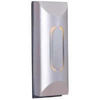 Beveled Cylinder Brushed Nickel Lighted Touch Button in Brushed Satin Nickel