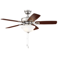 Craftmade TCE42BNK5C1 Twist N Click 42 inch Brushed Polished Nickel with Reversible Ash and Mahogany Blades Indoor Ceiling Fan