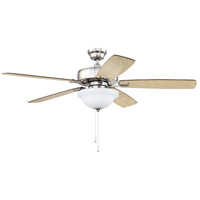 Craftmade TCE52BNK5C1 Twist N Click 52 inch Brushed Polished Nickel with Reversible Ash and Mahogany Blades Indoor Ceiling Fan