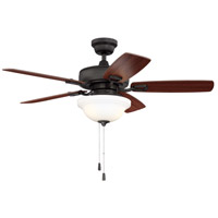 Craftmade TCE52ESP5C1 Twist N Click 52 inch Espresso with Reversible Dark Oak and Mahogany Blades Ceiling Fan