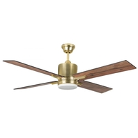 Craftmade TEA52SB4-UCI Teana 52 inch Satin Brass with Flat Black/Mesquite Blades Ceiling Fan