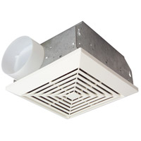 Builder 10 inch Designer White Bath Exhaust Fan in 50 CFM