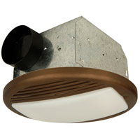 Craftmade Builder Ventilation 50 CFM 1 Light Bathroom Exhaust Fan Light in Bronze TFV50L-BZ