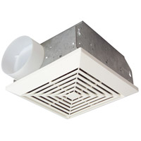 Builder 10 inch Designer White Bath Exhaust Fan in 70 CFM