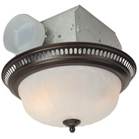 Decorative 14 inch Oil Rubbed Bronze Bath Exhaust Fan, with Light