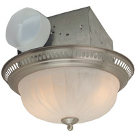 Decorative 14 inch Stainless Steel Bath Exhaust Fan, with Light