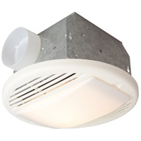 Builder Ventilation 12 inch White Bathroom Exhaust Fan Light in 70 CFM