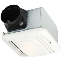 Fresh Air 18 inch Designer White Bath Exhaust Fan in 2, with Light