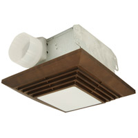 Craftmade Builder Ventilation 90 CFM 1 Light Bathroom Exhaust Fan Light in Bronze TFV90L-BZ