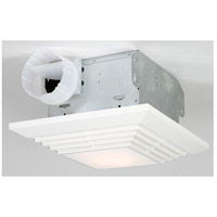Builder 13 inch Designer White Bath Exhaust Fan, with Light
