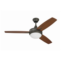 Craftmade Targas 1 Light Ceiling Fan in Espresso with Mahogany/Teak Blades TG48ESP3