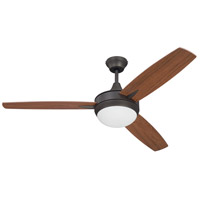 Craftmade Targas 1 Light Ceiling Fan in Espresso with Mahogany/Teak Blades TG52ESP3