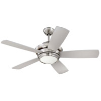 Tempo 44 inch Brushed Polished Nickel with Silver/Maple Blades Ceiling Fan