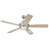 Tempo 52 inch Brushed Polished Nickel with Silver/Maple Blades Ceiling Fan