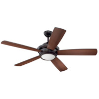 Craftmade TMP52OB5 Tempo 52 inch Oiled Bronze with Reversible Oiled Bronze and Walnut Blades Ceiling Fan, Blades Included