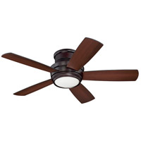 Tempo 44 inch Oiled Bronze with Reversible Walnut and Matte Black Blades Hugger Ceiling Fan, Blades Included