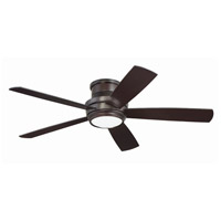 Craftmade TMPH52OB5 Tempo 52 inch Oiled Bronze with Reversible Walnut and Matte Black Blades Hugger Ceiling Fan, Blades Included