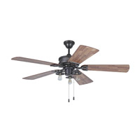Craftmade Trenton 3 Light 54-inch Ceiling Fan in Espresso with Dark Butcher Block Blades TRE54ESP5