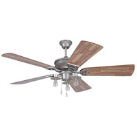 Craftmade Trenton 3 Light 52-inch Ceiling Fan in Pewter with Dark Butcher Block Blades TRE54PT5