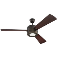 Craftmade TRI54ESP3 Triad 54 inch Espresso with Reversible Espresso and Dark Walnut Blades Ceiling Fan