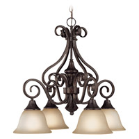 Craftmade 24924-BA Torrey 4 Light 25 inch Burnished Armor Down Chandelier Ceiling Light in Light Umber Etched alternative photo thumbnail