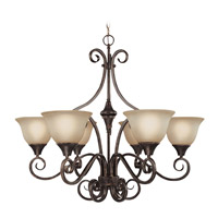 Craftmade 24926-BA Torrey 6 Light 32 inch Burnished Armor Chandelier Ceiling Light in Light Umber Etched alternative photo thumbnail