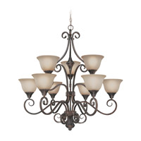 Craftmade 24929-BA Torrey 9 Light 36 inch Burnished Armor Chandelier Ceiling Light in Light Umber Etched alternative photo thumbnail