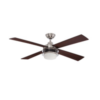 Ellington by Craftmade Urban Breeze 2 Light 52-inch Ceiling Fan in Brushed Polished Nickel with Flat Black and Dark Walnut Blades UBR52BNK4