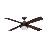 Ellington by Craftmade Urban Breeze 2 Light 52-inch Ceiling Fan in Espresso with Espresso and Classic Walnut Blades UBR52ESP4