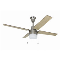 Wakefield 48 inch Brushed Chrome Ceiling Fan with Blades Included