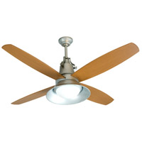 Craftmade UN52GV4-LED Union 52 inch Galvanized Steel with Light Oak Blades Ceiling Fan, Blades Included
