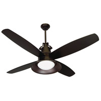Union 52 inch Oiled Bronze Gilded with Oiled Bronze Blades Ceiling Fan, Blades Included