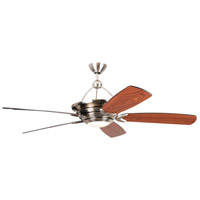 Craftmade VS60BNK5-LED Vesta 60 inch Brushed Polished Nickel with Flat Black/Walnut Blades Ceiling Fan