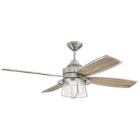 Craftmade WAT52BNK4 Waterfront 52 inch Brushed Polished Nickel with Brushed Polished Nickel/Driftwood Blades Indoor/Outdoor Ceiling Fan