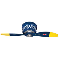 Craftmade WB242BS2 WarPlanes 42 inch WarPlanes Black Sheep with War Plane Blades Ceiling Fan, Blades Included