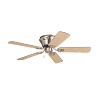 Wyman 42 inch Brushed Nickel with Ash and Walnut Blades Indoor Ceiling Fan in 0, Light Kit Sold Separately