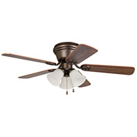 Craftmade WC42ORB5C3F Wyman 42 inch Oiled Rubbed Bronze with Reversible Classic Walnut and Walnut Blades Ceiling Fan in 3, Oil Rubbed Bronze, Matte White, Blades Included