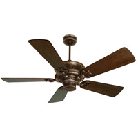 Craftmade K11264 Woodward 52 inch Dark Coffee and Vintage Madera with Hand-Scraped Walnut Blades Ceiling Fan in Solid Wood Blades, Premier, Light Kit Sold Separately